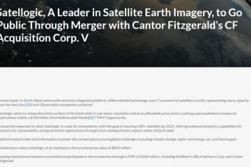 SpaceX合作伙伴卫星逻辑计划透过SPAC在美上市软银参与投资